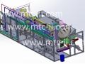 Maquette numérique machine d'éco-extraction végétal micro-ondes 75kW /secteur parfurmerie